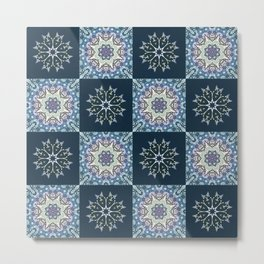handdrawn abstract winter pattern Metal Print