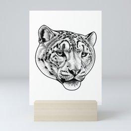 Big cat - Snow Leopard Mini Art Print