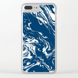 Tokai - spilled ink abstract painting watercolor marble marbled marbling japanese water wave Clear iPhone Case