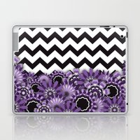 Purple Flower Chevron Laptop & iPad Skin