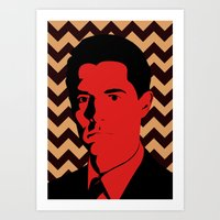 dale cooper Art Prints featuring Special Agent Dale Cooper by TwO Owls