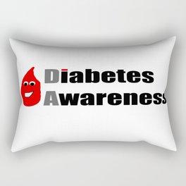 Diabetes Awareness Rectangular Pillow