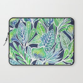 Masked Flora Collection Leaves Laptop Sleeve