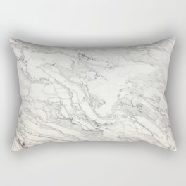 White Marble 010 Rectangular Pillow