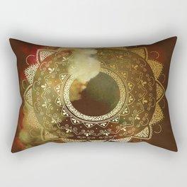Precious gold mandala Rectangular Pillow