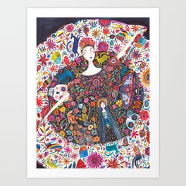 Imaginary journey – Mexico Art Print
