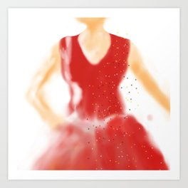 red as red Art Print