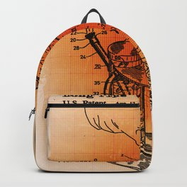 Bong Patent Blueprint Drawings Sepia Backpack