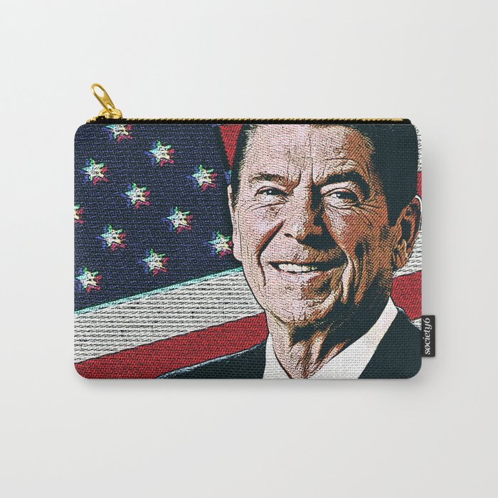 Patriotic President Reagan Carry-All Pouch