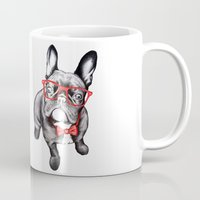dog Mugs featuring Happy Dog by 13 Styx