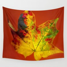 Autumn Maple Leaf Wall Tapestry