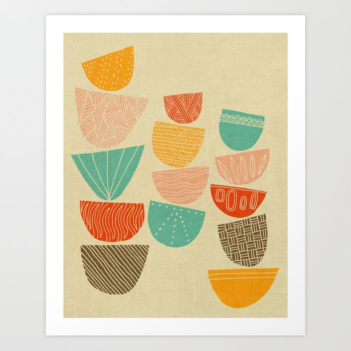 Stacks Art Print