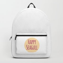 Happy Seagull Funny Inspirational Design Backpack