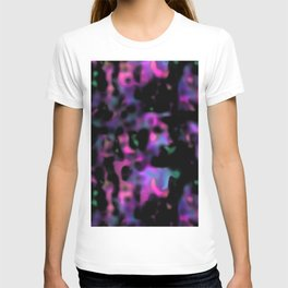 psychedelic black abstract T-shirt