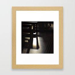 bancos y sombras Framed Art Print