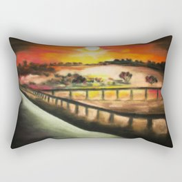 running at dusk 1 Rectangular Pillow