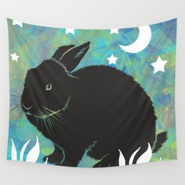 The Black Bunny Wall Tapestry