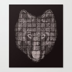 A Patchwork Wolf Canvas Print