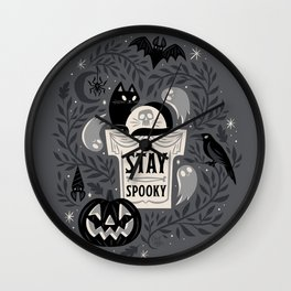 Stay Spooky Wall Clock