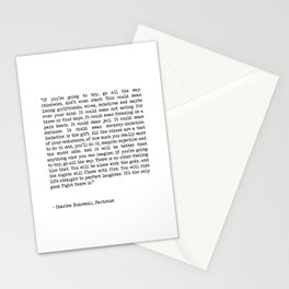 If You're Going To Try, Go All The Way Motivational Life Quote By Charles Bukowski, Factotum Stationery Cards
