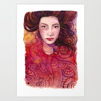witch Art Prints featuring WITCH by Verismaya