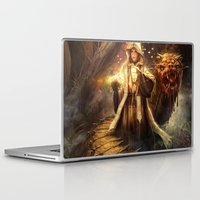 wizard Laptop & iPad Skins featuring Wizard queen  by Alexandrescu Paul