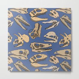 Paleontology Metal Print