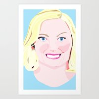 leslie knope Art Prints featuring Leslie Knope by cuterthanababyandamonkeycombined