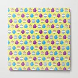 Easter Eggs - Pattern Metal Print