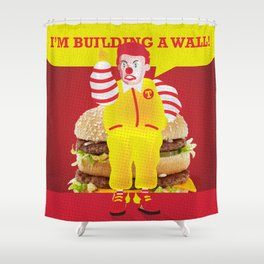 Mc Donald Trump Shower Curtain