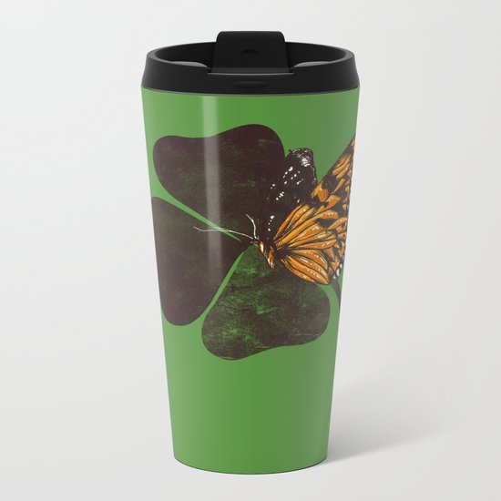 By Chance - Green Metal Travel Mug