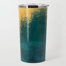 Gold Rush Peacock Travel Mug