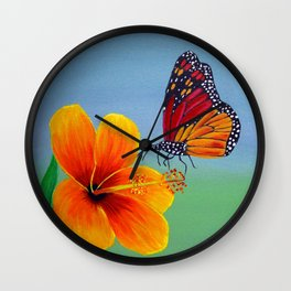 Lily with Butterfly Wall Clock