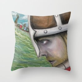 The Norsemen Cometh Throw Pillow