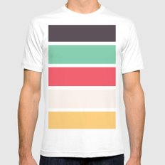 Summer Patio Mens Fitted Tee MEDIUM White