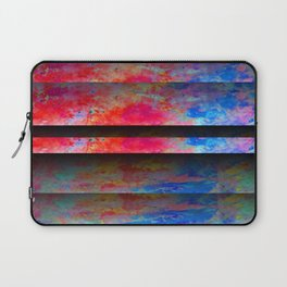 Red Color Blinds Laptop Sleeve