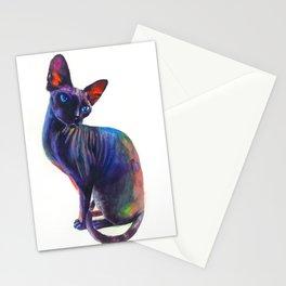 Black sphynx Stationery Cards