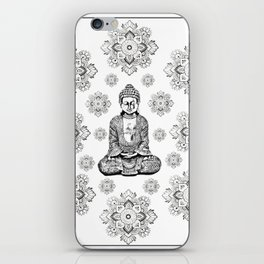 Buddha, HOME DECOR,with hand-painted Mandala Clouds,iPhone case,iPhone cover,iPhone skin,Laptop skin iPhone Skin