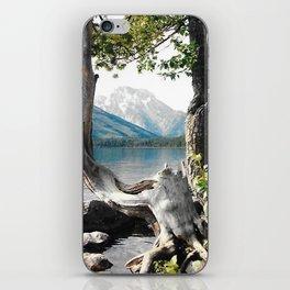 Tetons at Jackson Lake Wyoming iPhone Skin