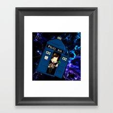 Tardis in space Doctor Who 11 Framed Art Print