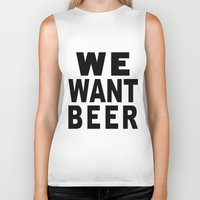beer Biker Tanks featuring Beer by Meche A