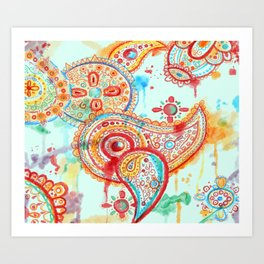 Bleeding Paisley Art Print