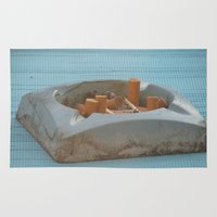 cigarettes Area & Throw Rugs featuring Cigarettes  by Rovar