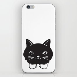 Dapper Black Kitty Cat iPhone Skin