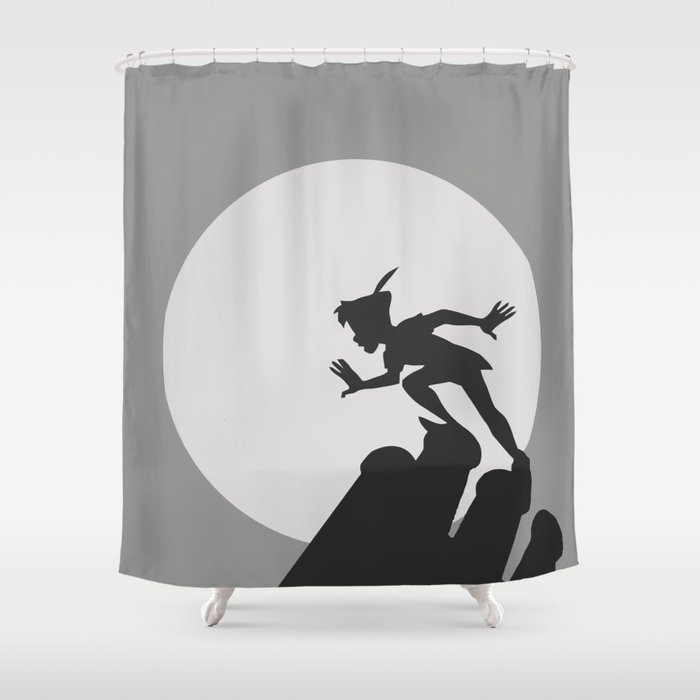 Peter Pan Shower Curtain By Mairaartwork