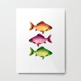 Three vibrant fishes Metal Print