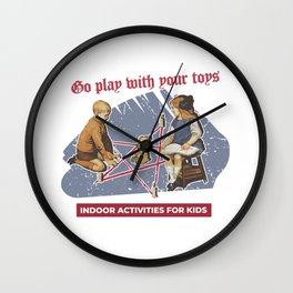 Vintage Poster Parody Wall Clock