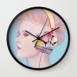 Rubik's headphones Wall Clock