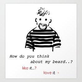 Bearded man-2 Art Print