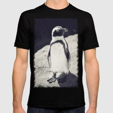 Penguin  Mens Fitted Tee Black 2X-LARGE
